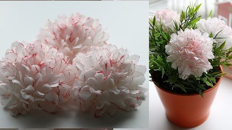 How to make small tissue paper flower diy paper craft diy paper how to make small tissue paper flower diy paper craft mightylinksfo