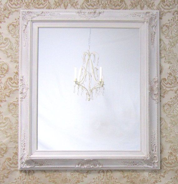 IVORY FRAMED MIRROR Baroque Framed Mirrors For by RevivedVintage