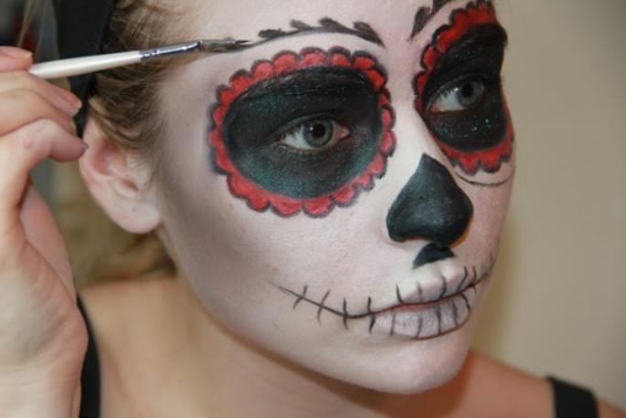 łatwy Makijaż Na Halloween Makijaże Pinterest Halloween I Makeup