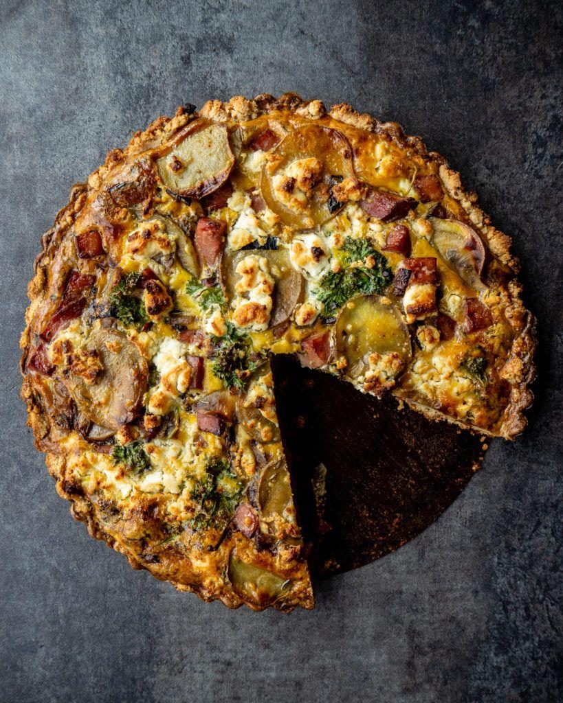 Potato Leek Ham Quiche With Almond Crust Almond Crusted Ham Quiche Recipes