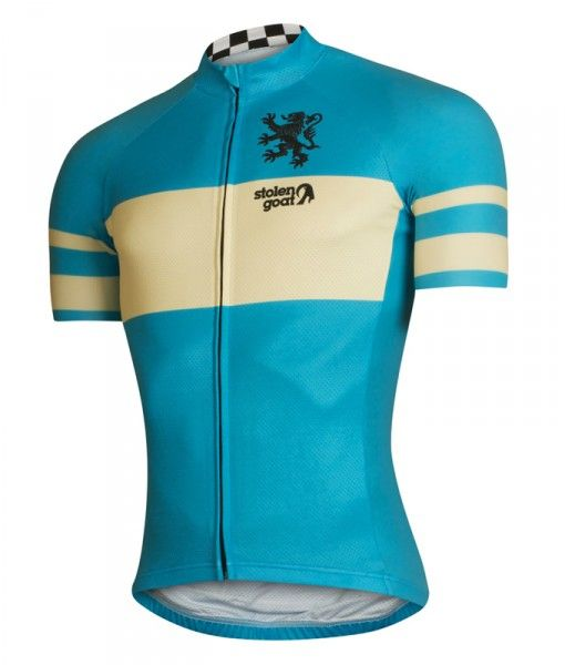stolen goat Belgian Blue short sleeve cycling jersey side. Find this Pin  and more on Mens Cycling Jerseys ... 7532b900b