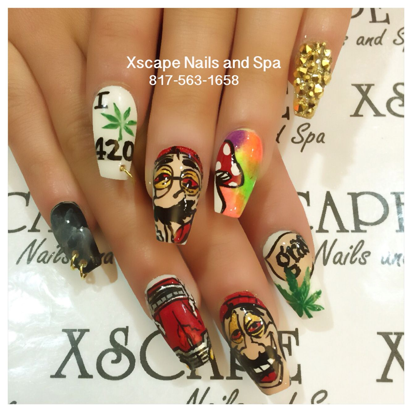 420 nails | Cute Nails Designs | Pinterest | Dope nails, Beautiful ...