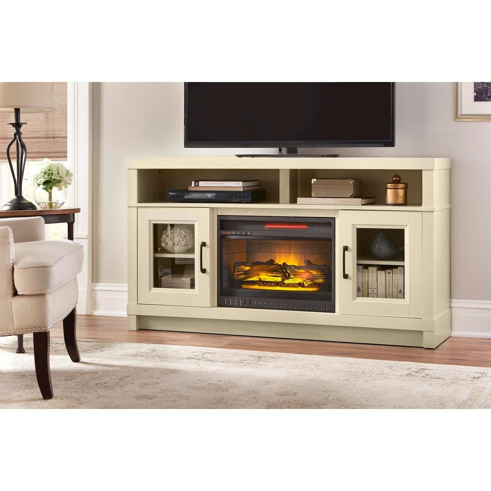 Ashmont 60 In Freestanding Electric Fireplace Tv Stand In Antique White Fireplace Tv Stand Electric Fireplace Tv Stand Fireplace Tv