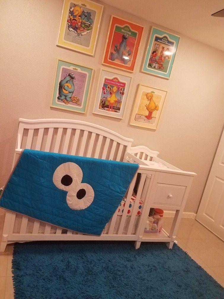 Sesame Street Nursery Decor Vintage