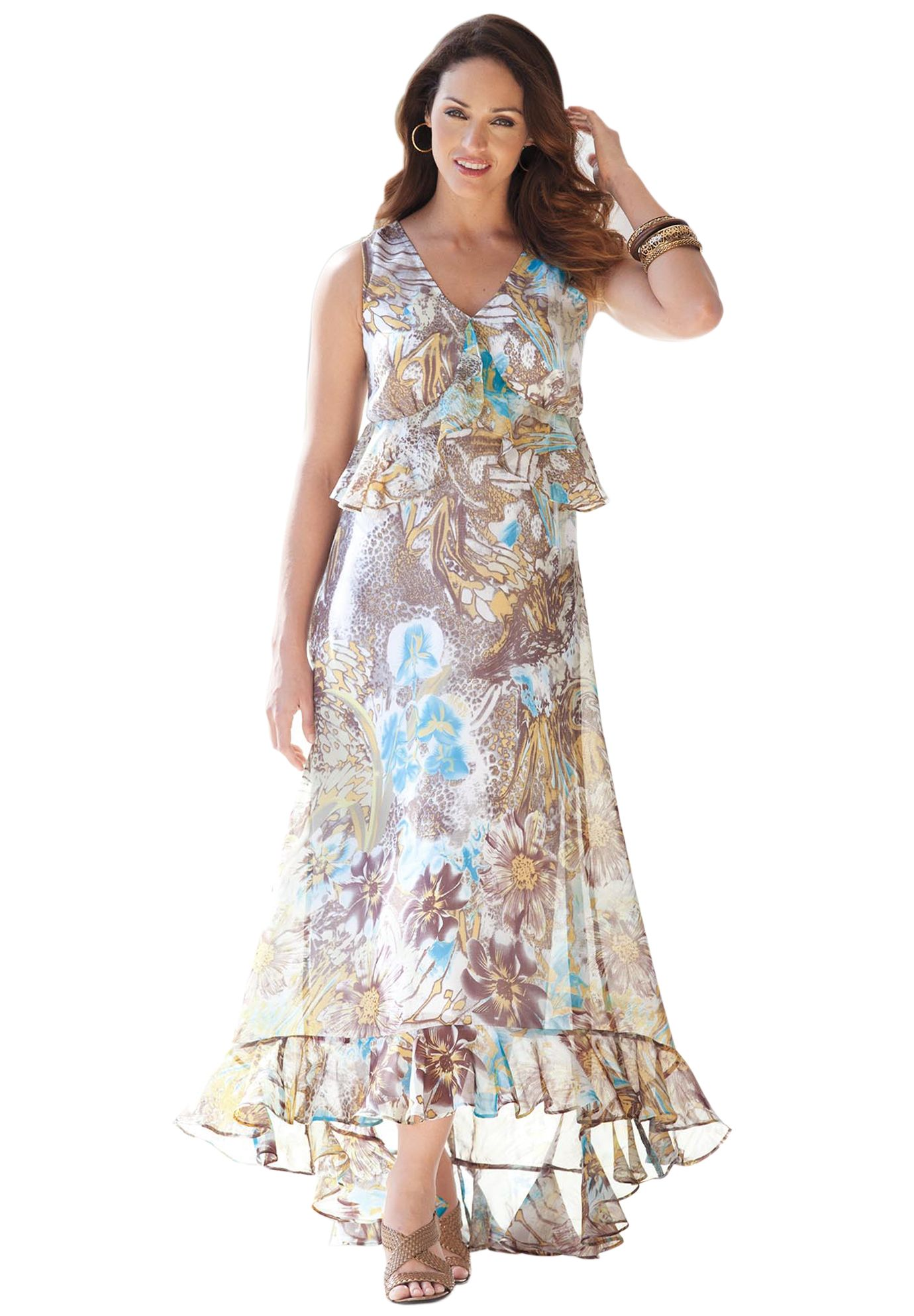 9bdff13695 Maxi Dress with Hi-Lo Hem