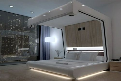 50 coole Ideen für Himmelbetten aus Holz im Schlafzimmer Thortis - schlafzimmer modern holz