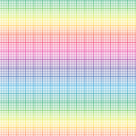 Rainbow Graph Paper Small Rainbow Fabric By Weavingmajor On
