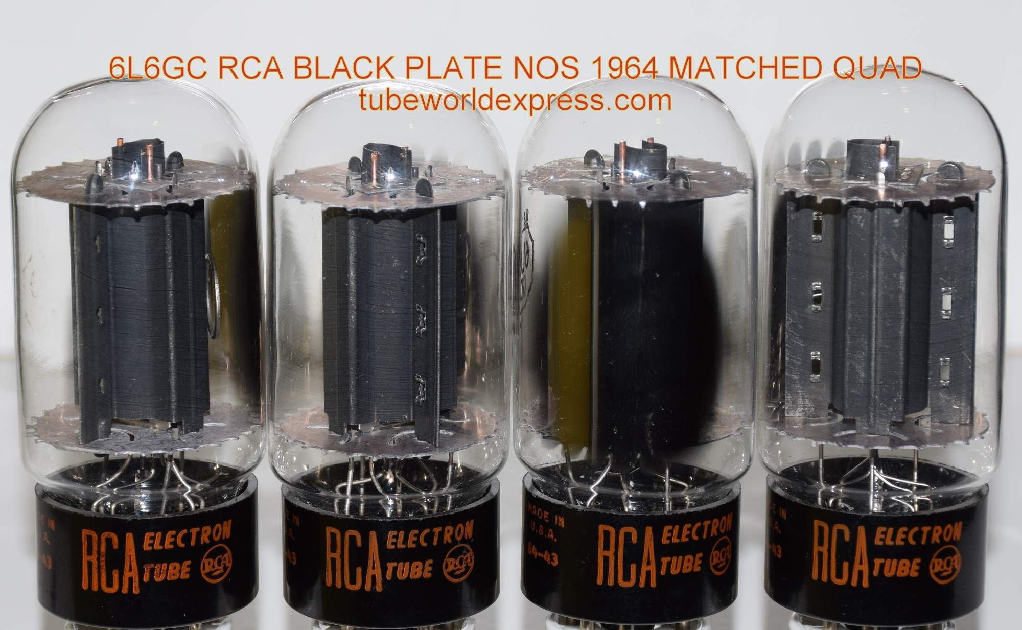 1 6l6gc Rca Black Plate Quad 6l6gc Rca Black Plates Copper