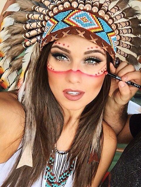 Indianerin Kostum Selber Machen Pinterest Indianer Kostum Selber