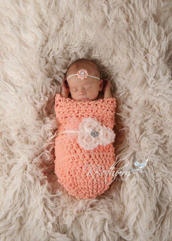 Newborn cocoon newborn cocoon swaddle peach cocoon by SweetEverlyB ...