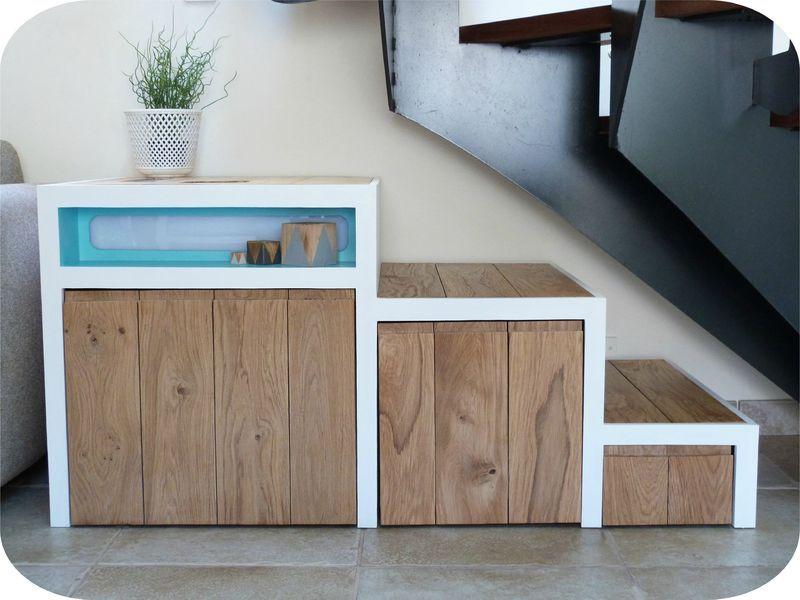 meuble escalier diy | idée palette | pinterest | meuble escalier