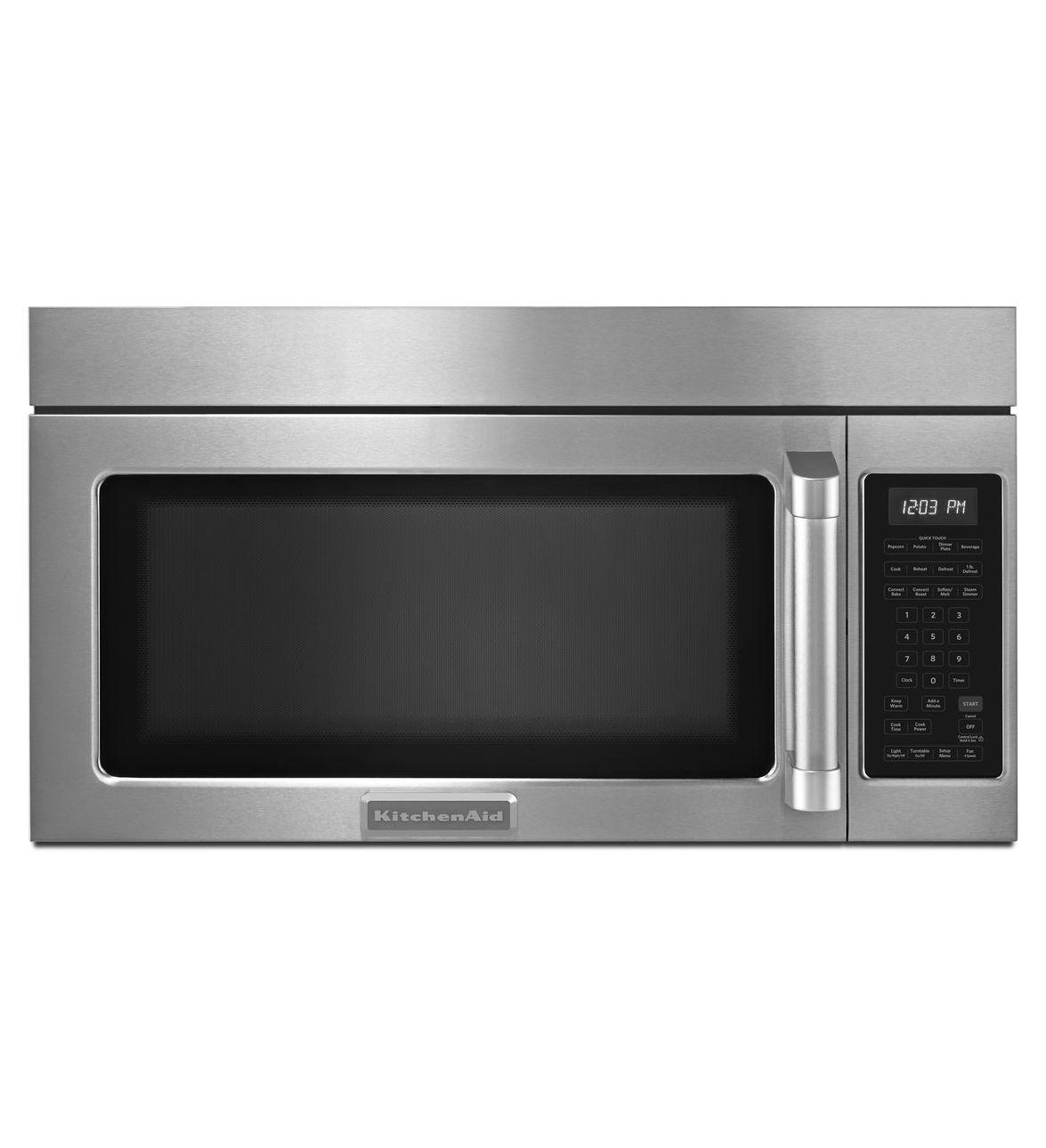 Shop Kitchenaid Architect Ii 24 In Black Stainless Steel: KitchenAid® 30'', 1000-Watt Microwave Hood Combination Oven, Architect® Series II (KHMC1857BSP