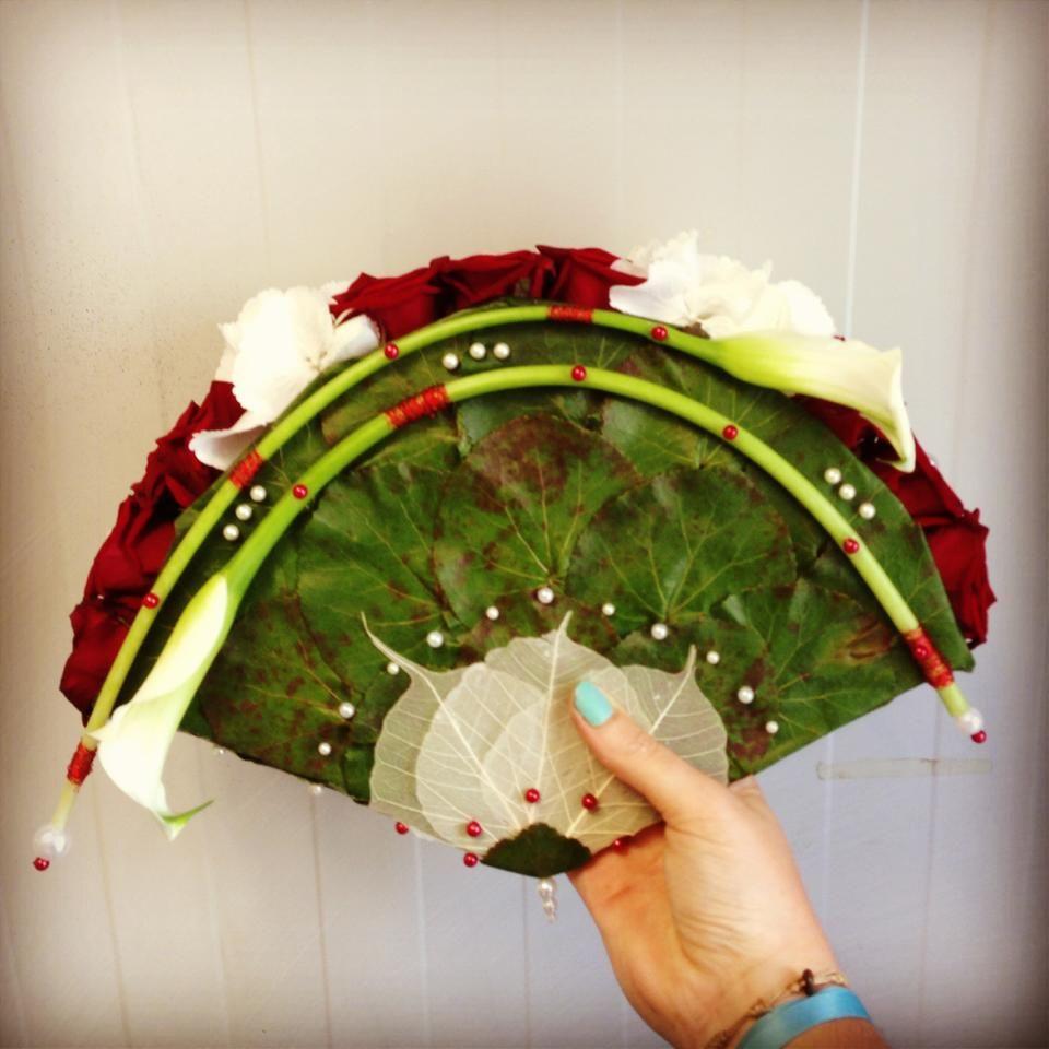 Ventail de fleurs pour une mari e art floral anne 51 for Bouquet de fleurs pour une naissance