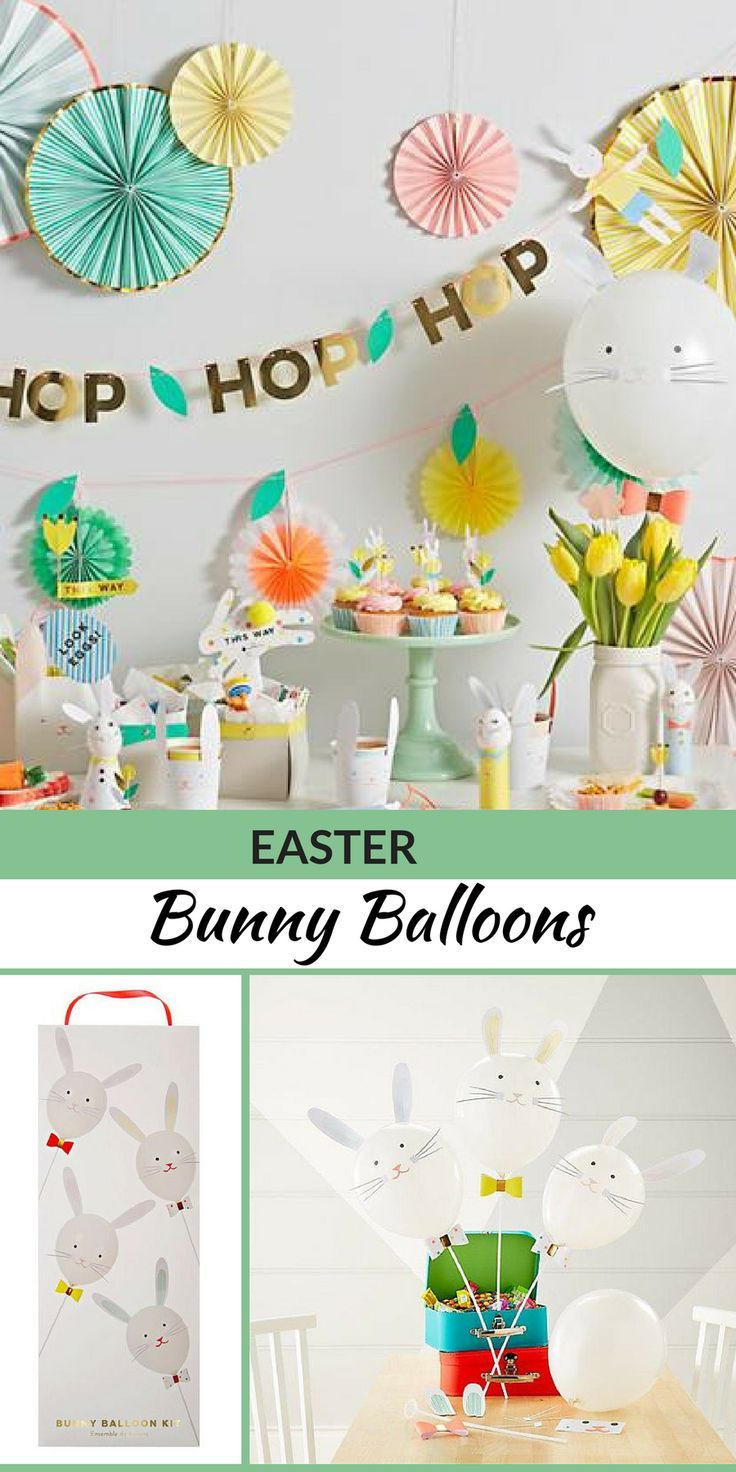 Easter Etsy . Love these Easter bunny balloons. It\'s so cute and the ...