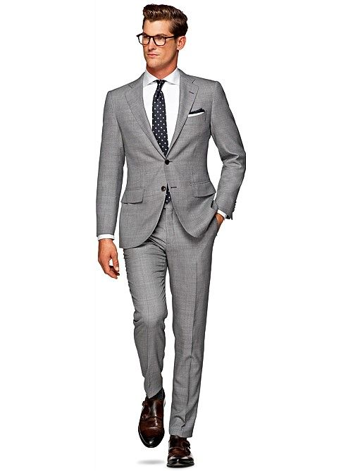 352b34e1ac9f Suit Light Grey Birds Eye La Spalla P4250i | Suitsupply | SUITS in ...