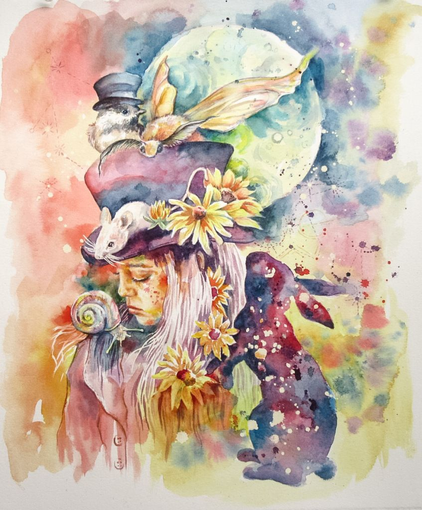 Watercolor artist magazine subscription -  The Little Magician Watercolor Art Magical Nature Forest Animals