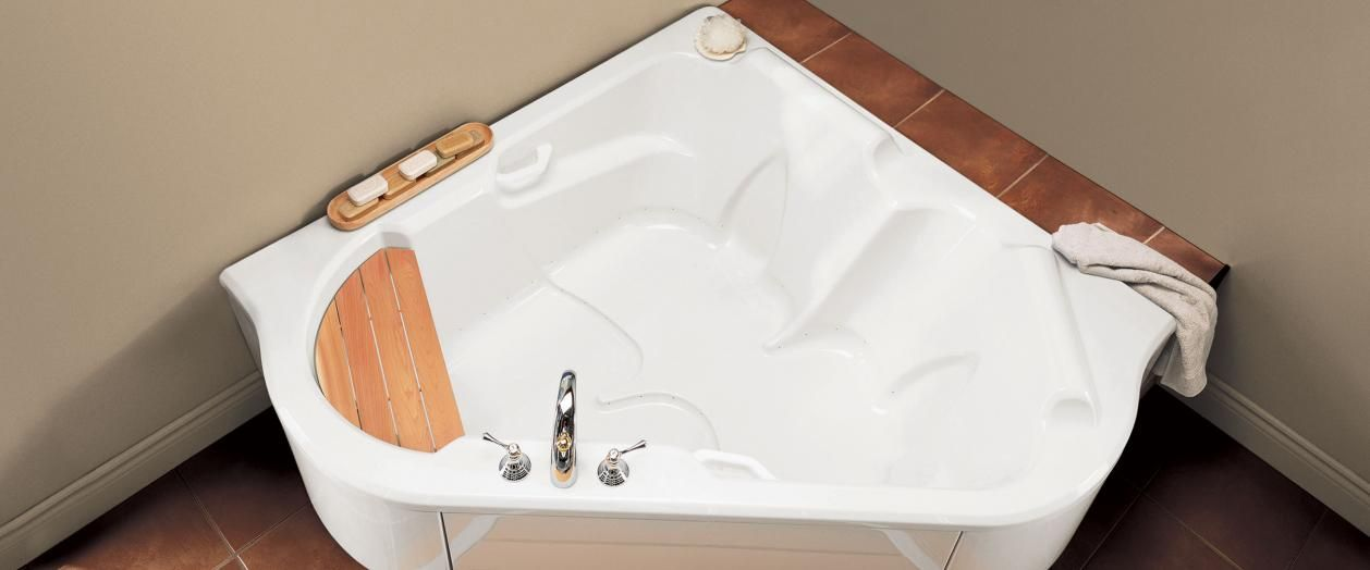 bainultra tmu 5454 two person corner drop-in air jet bathtub for