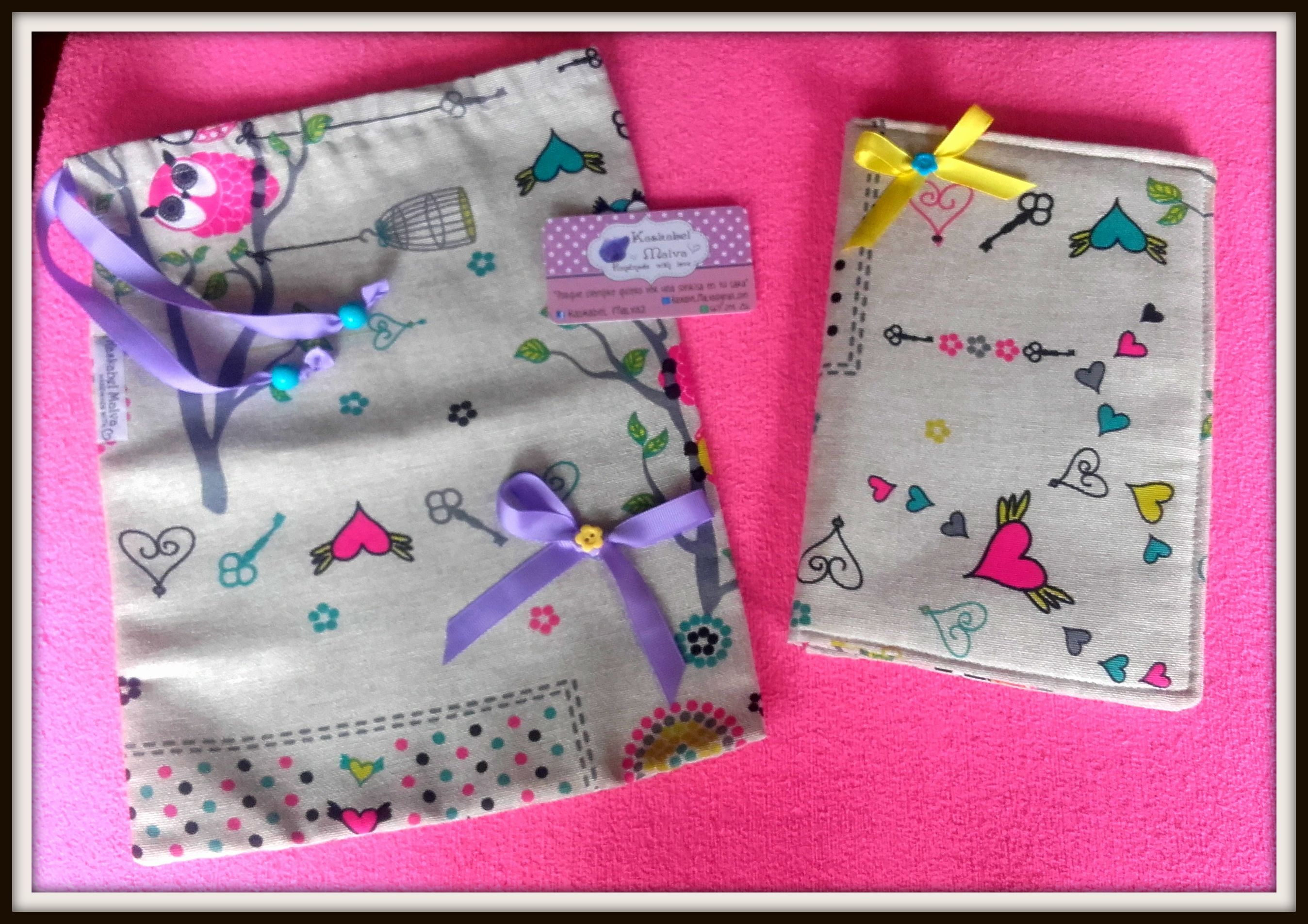 Conjuntos de bolsa para almuerzo y porta pañales y toallitas. Súper útiles  ;0)