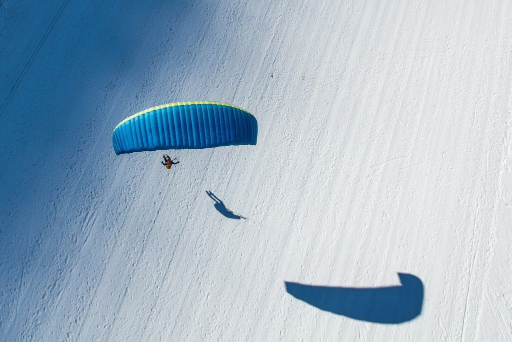 Aerial View Of Parachute Wallpaper