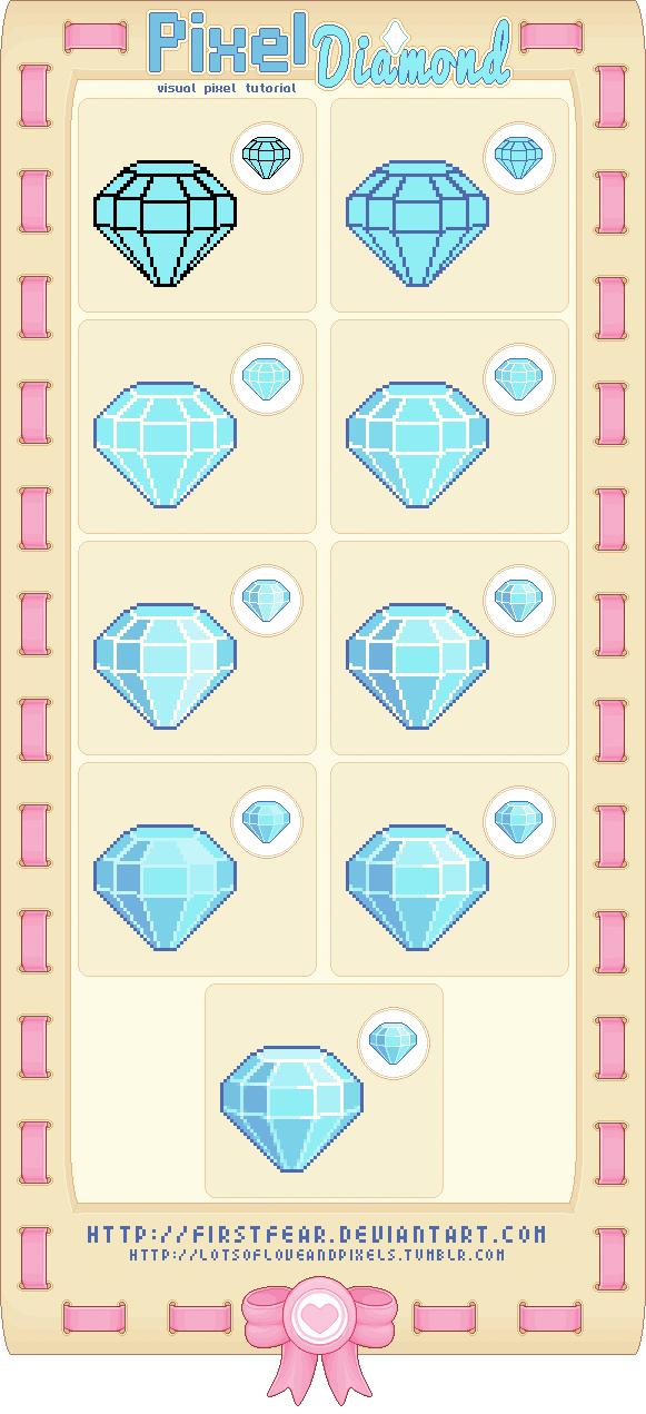 Tutorial Pixel Diamond By Firstfear Pixel Art Games