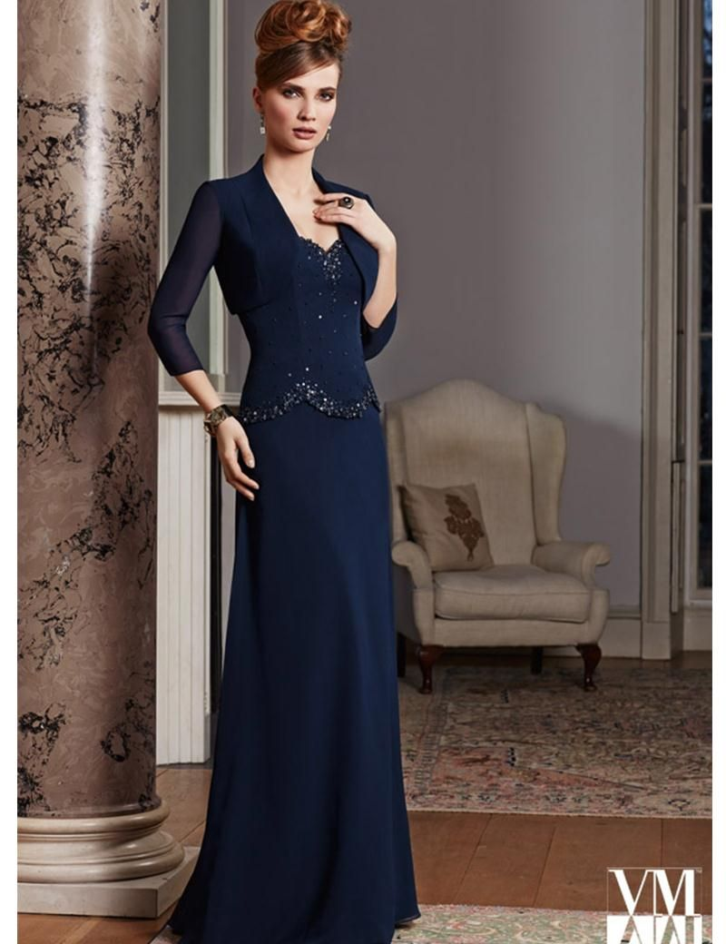 Mother wear for wedding  Click to Buy ucuc  Elegant Mother of the Bride Dress with Jacket