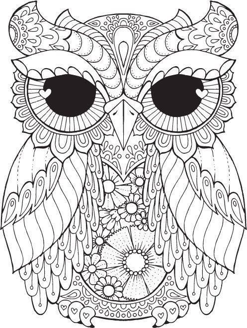 Nice Adult Colouring In, Mexican Embroidery, Owls, Book Drawing, Owl Art,  Zentangle Patterns, Pyrography, Quilling, Bullet