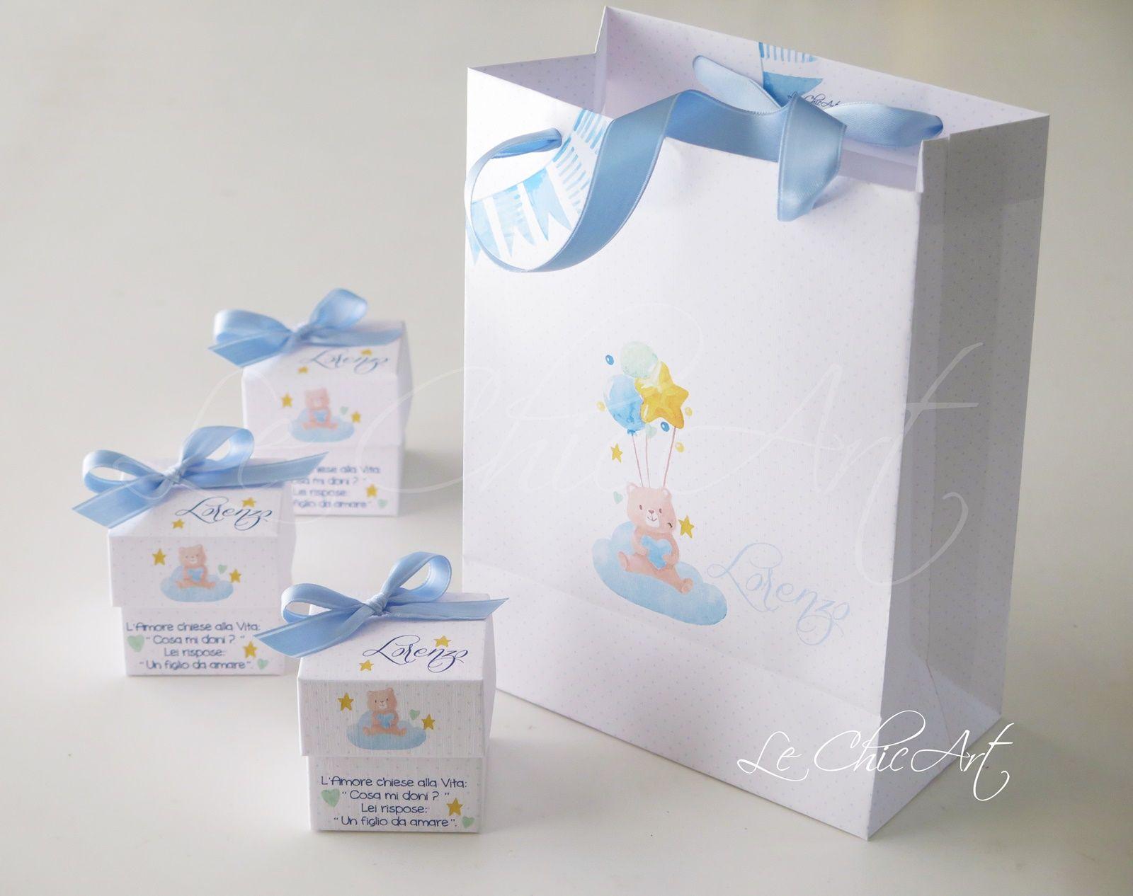 Porta Confetti E Bag Per Bomboniera Battesimo Battesimo Bomboniera Bomboniere