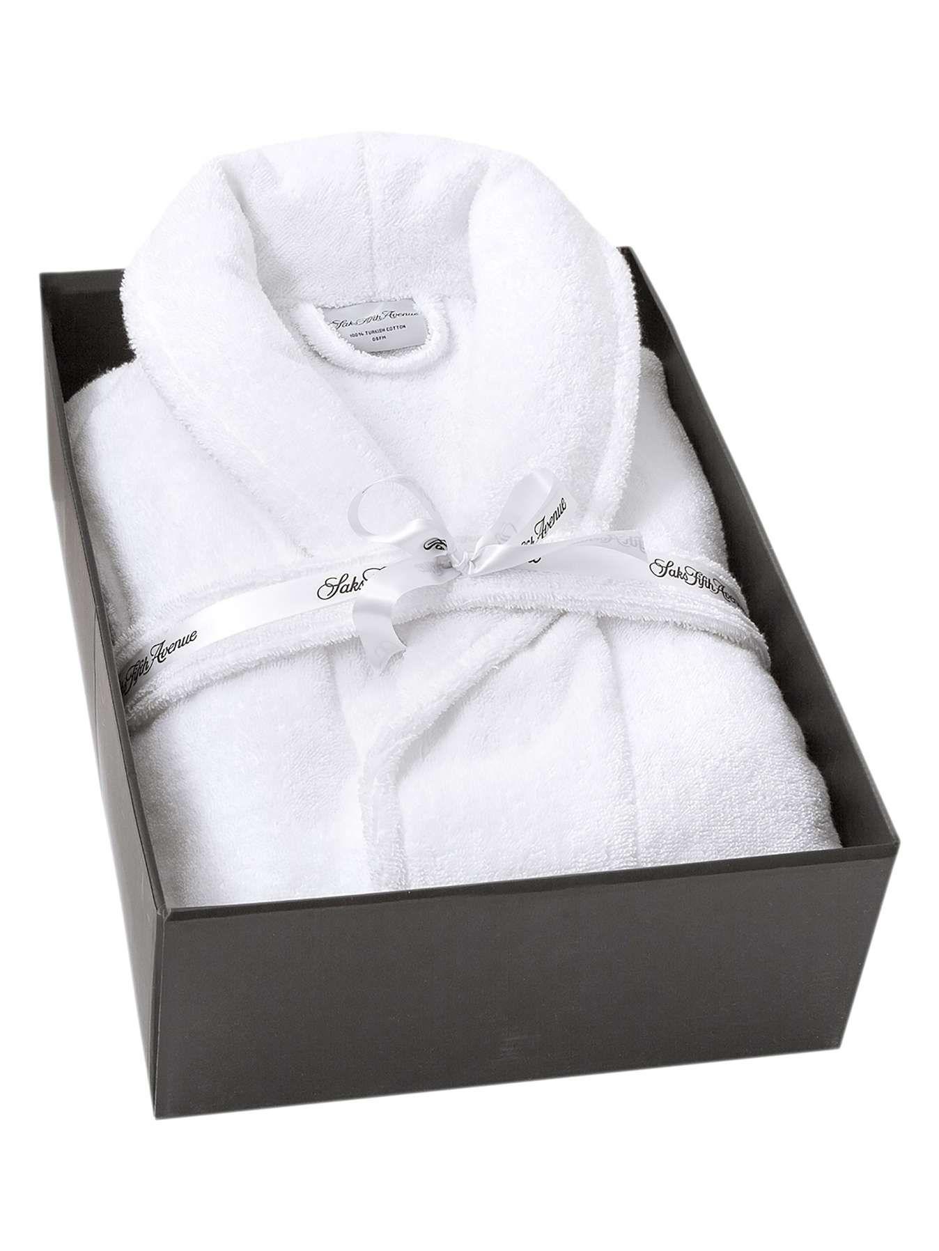 56 Saks Fifth Avenue Luxury Plush Gift Boxed Robe Luxury Plush