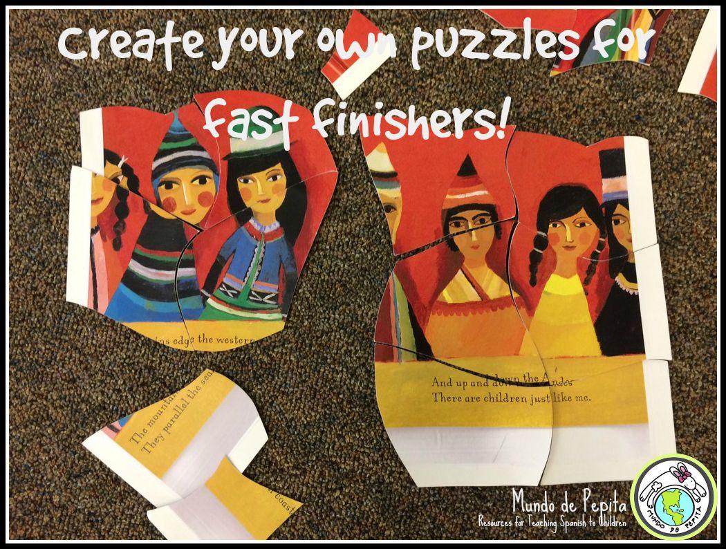 Mundo de Pepita: Fast Finisher Activities for Elementary Spanish Class
