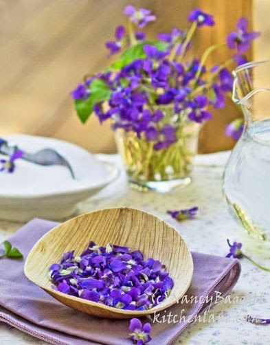 Making Homemade Violet Syrup With Fresh Woodland Vioets