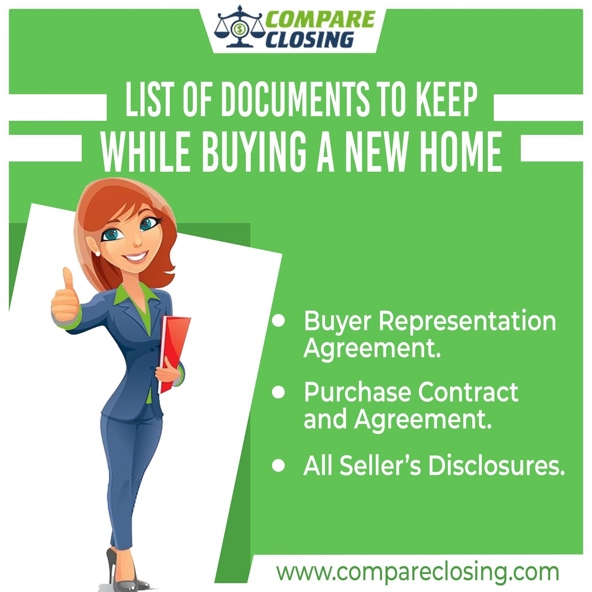 List Of Documents To Keep While Buying A New Home Compare Quotes Buying A New Home Purchase Contract