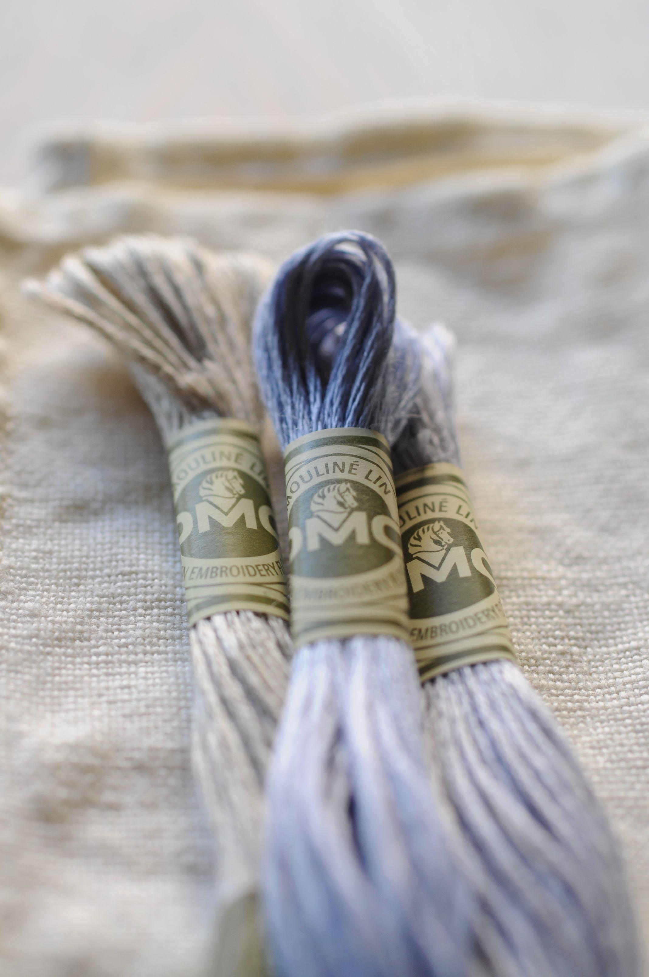 Blue linen embroidery threads | vyšívání | Pinterest | Bordado, Hilo ...