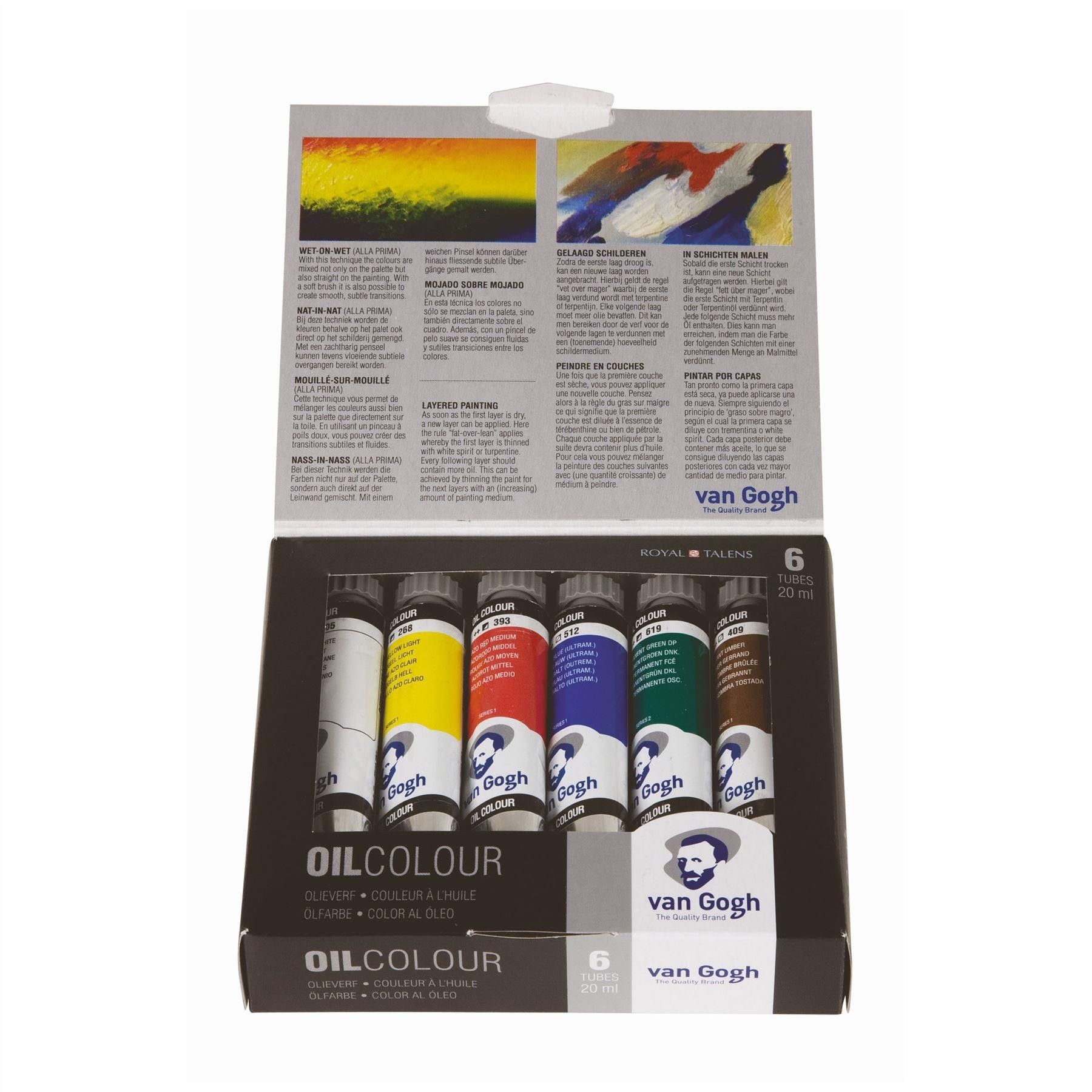 Royal Talens Van Gogh Oil Colour Paint Sets Accessories Packs