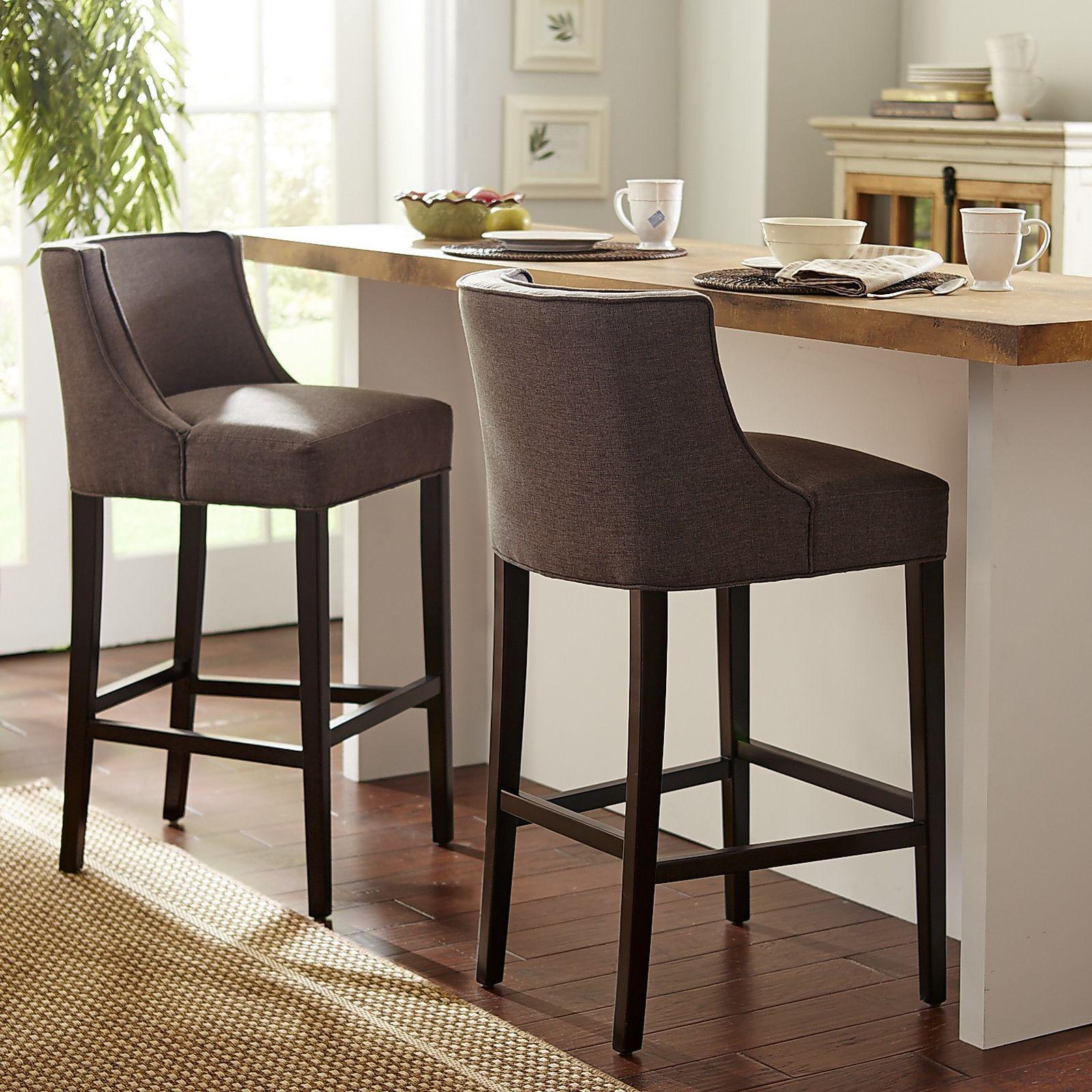 Eva Ash Bar Stool  Stools Espresso And Contemporary Simple Kitchen Counter Bar Stools Design Ideas