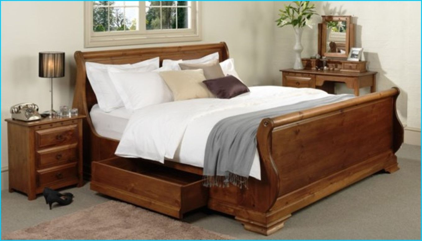 king size sleigh bed with storage drawers | HomeBuildDesigns | Pinterest