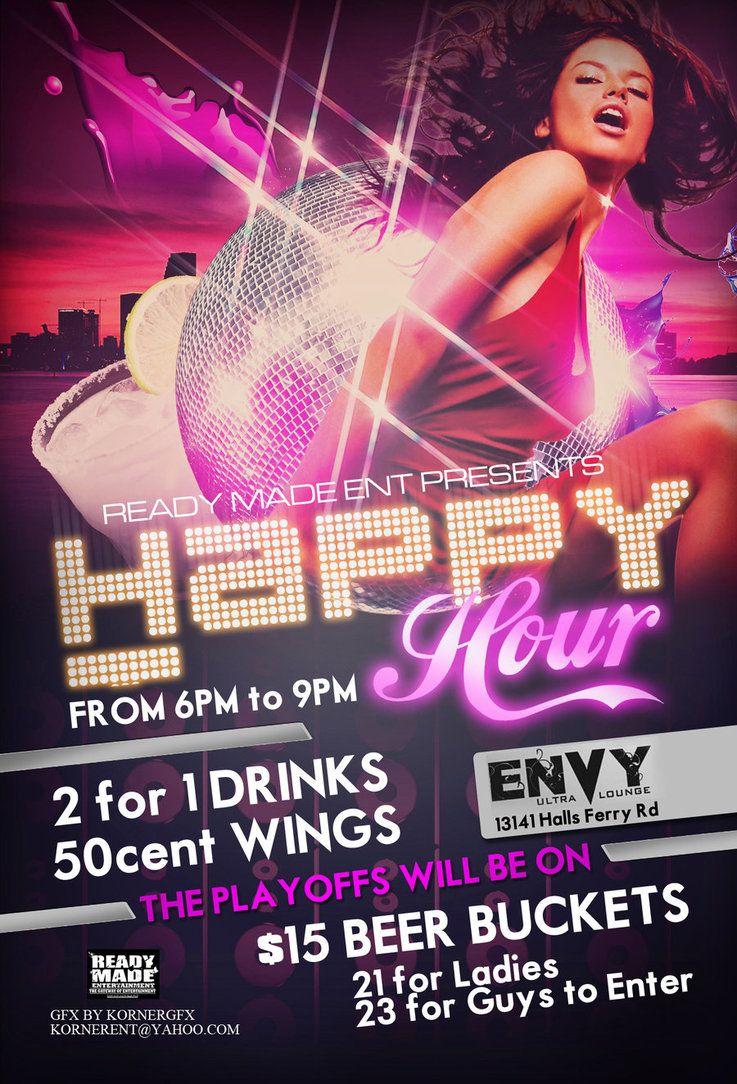 Happy Hour Club Flyer by Numbazdeviantart on DeviantArt – Club Flyer