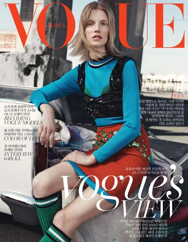 #SuviKoponen by #BennyHorne for the cover of #VogueKorea April 2014