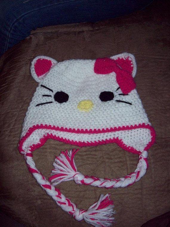 Pin de Constance Smith en Hello Kitty Crochet   Pinterest   Gorros ...