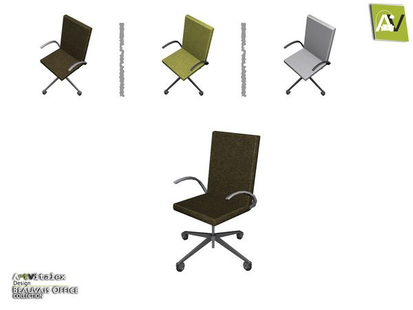 Artvitalex S Beauvais Office Chair Chair Cushions Walmart Chair Sims 4 Custom Content