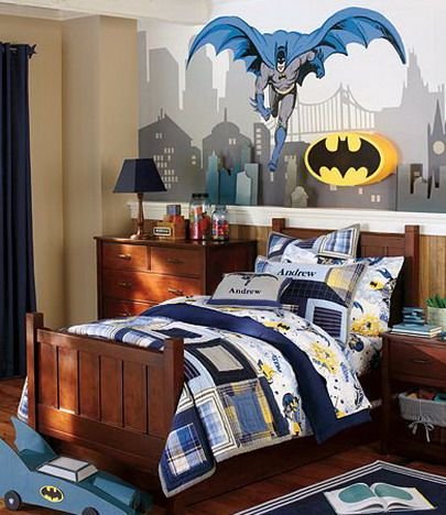 Bedroom, Painting Batman Bedroom Wall Decal Stickers Ideas Pic7: The  Fascinating Of Batman Bedroom
