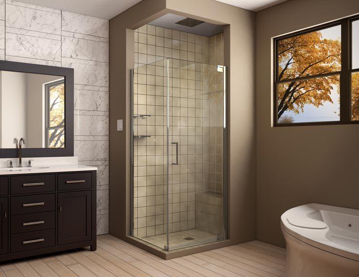 Frameless Shower Door Enclosure   Modern Frameless Shower Enclosure ...