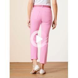walbusch women jeans trousers regular fit rosé solid color