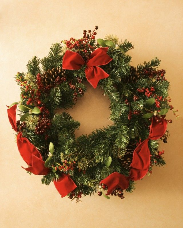 Ghirlanda natalizia christmas time pinterest fai da - Ghirlande per porte natalizie ...