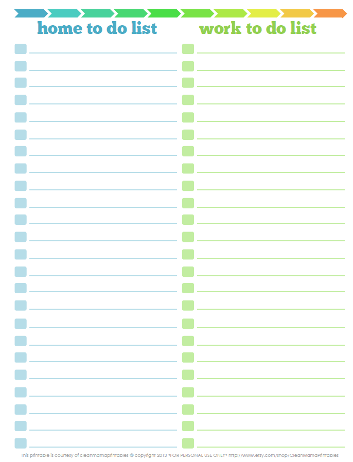 work to do list template | to do list for work