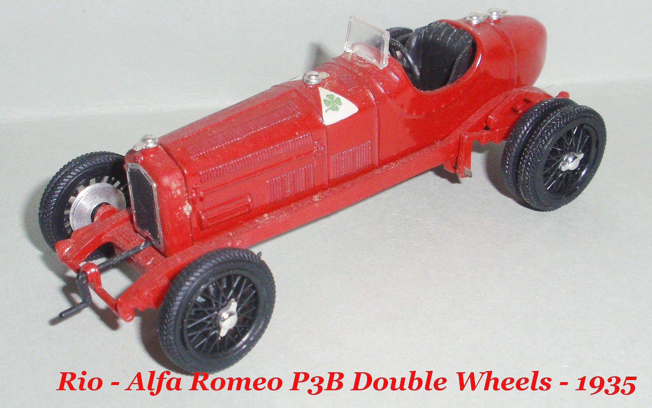 Mod 1 43 Rio Alfa Romeo P3B Double Wheels 1935