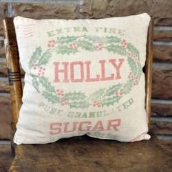 Holly Sugar Pillow