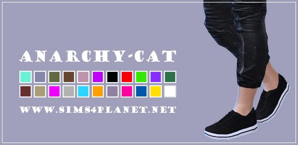 Anarchy-Cat: Madlen`s Torun Sneakers for male • Sims 4 Downloads