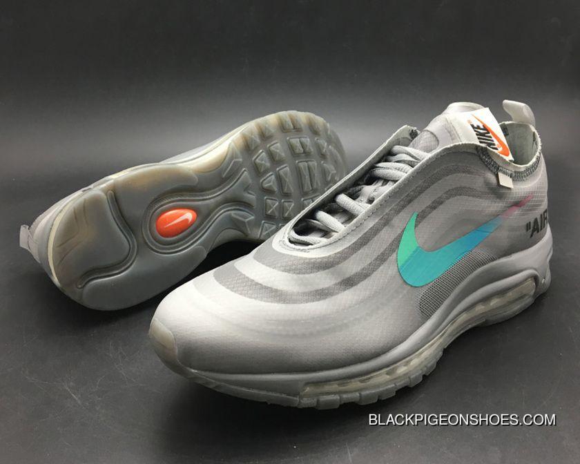 For Sale Off White X Nike Air Max 97 Off WhiteWolf Grey White Menta