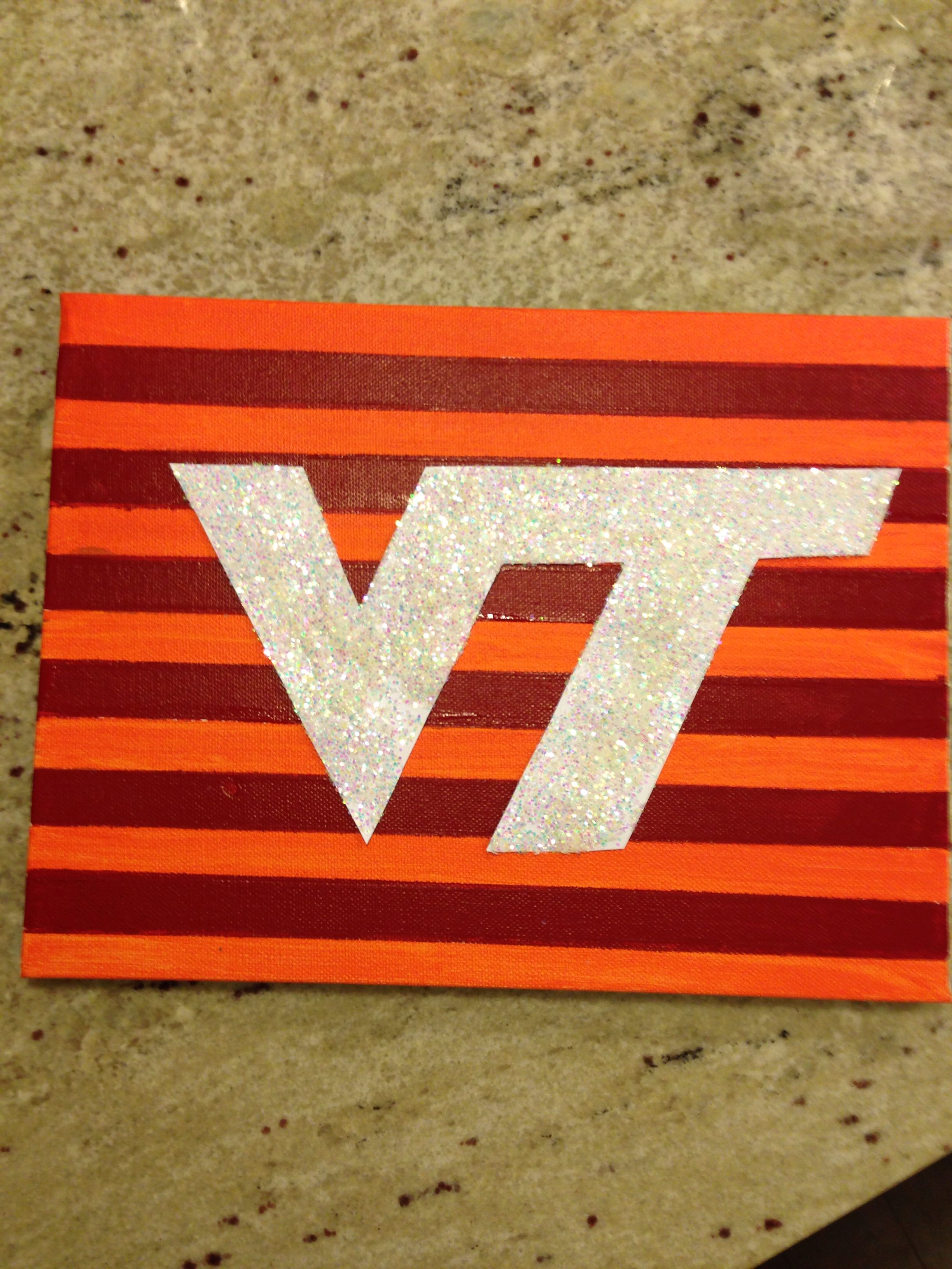Virginia Tech Canvas Dorm Art Diy Crafts Virginia Tech Crafts Dorm Art Dorm Canvas