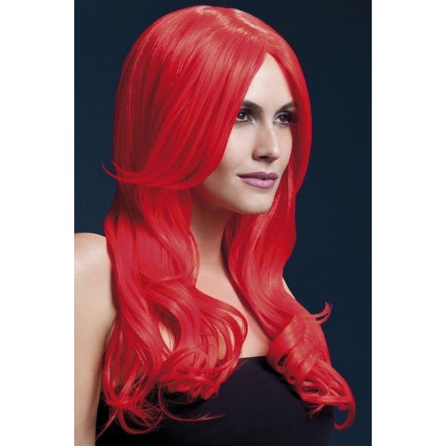 LADIES GLAMOURAMA WIG WIGS RED